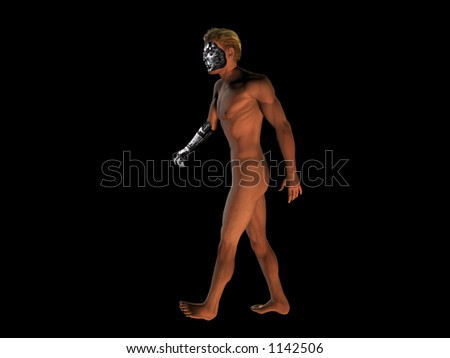 humanoid robot - stock photo