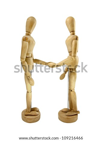 Humans wood Model - stock photo