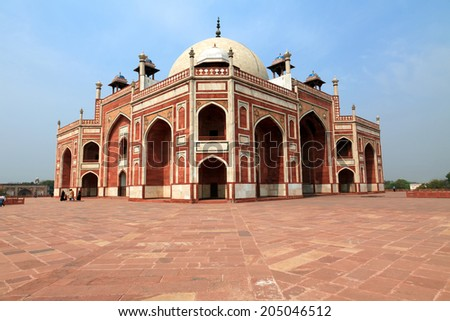 Humayun Mausoleum, Dehli, India - stock photo