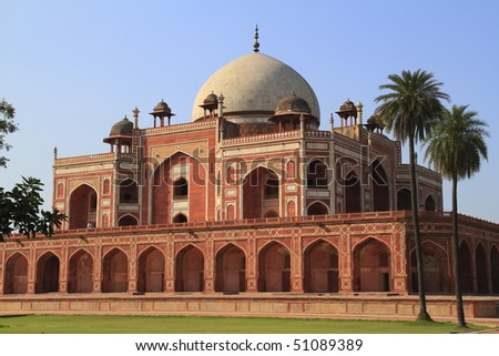 Humayun's Tomb is a complex of buildings in Delhi, India - stock photo