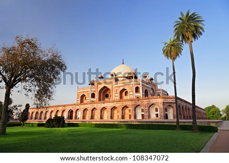 Humayun's Tomb, New Delhi, India - stock photo