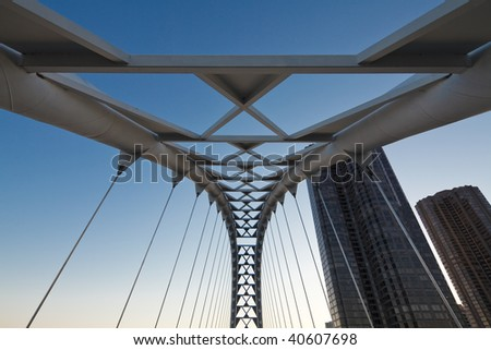 Humber river bridge, Toronto, Canada - stock photo