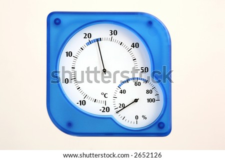 Humidity and Temperature - stock photo