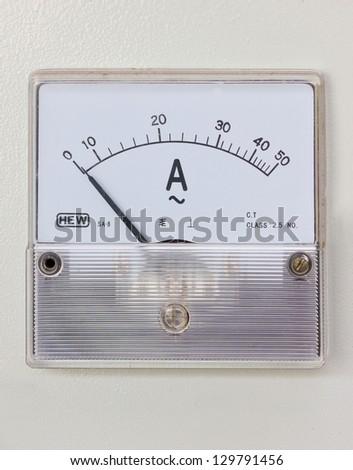 Humidity gauge of rice mill machine. - stock photo