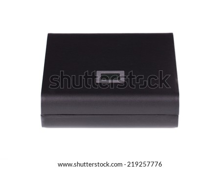 humidor isolated on white background in the close up  - stock photo