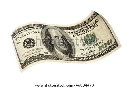 hundred dollar banknote - stock photo