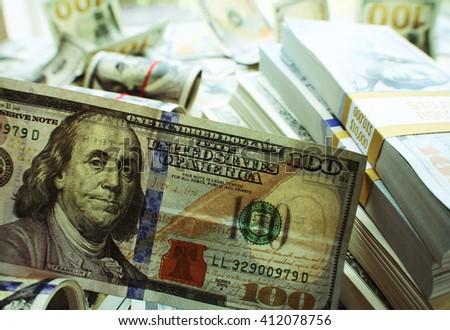 Hundred Dollar Bill Stock Photo - stock photo