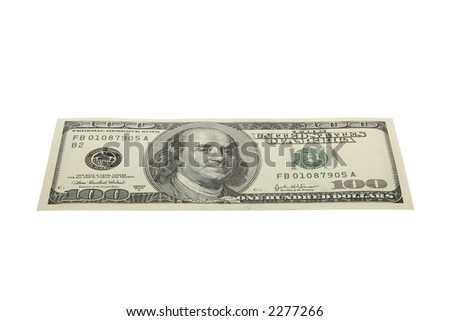hundred dollars - stock photo