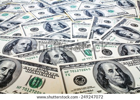 Hundred Dollars Background - stock photo