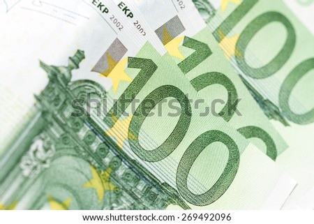 Hundred Euro closeup