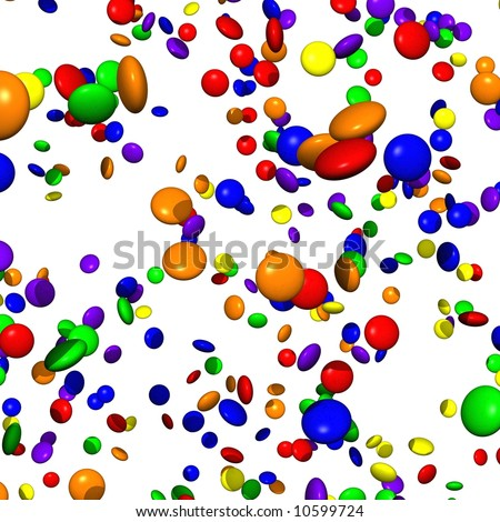 Hundreds of raining smarties - stock photo