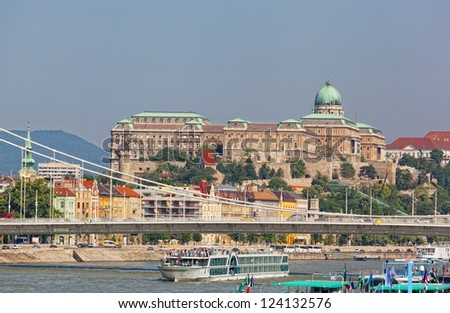 Hungary, Budapest. View of Danube and Royal castle - stock photo