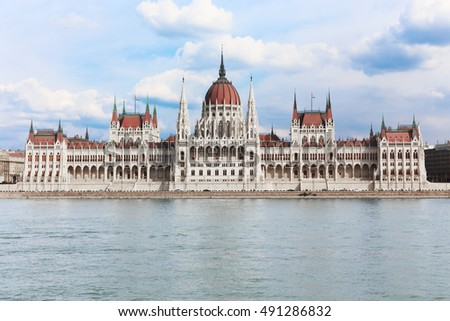 Hungary capital, Budapest. The building of the Hungarian Parliament