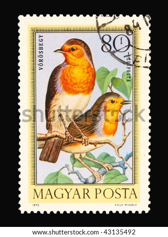 HUNGARY - CIRCA 1973: A stamp printed in Hungary showing birds circa 1973