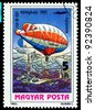 HUNGARY - CIRCA 1983: A stamp printed in Hungary shows Airship HA-B-501, series, circa 1983 - stock photo