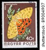 HUNGARY - CIRCA 1974: A Stamp printed in Hungary shows butterfly woolly bears - Arctiidae, circa 1974 - stock photo