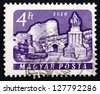 HUNGARY - CIRCA 1961: a stamp printed in the Hungary shows Castle of Eger, Hungary, circa 1961 - stock photo