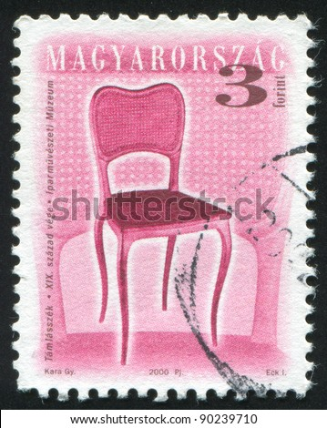 HUNGARY - CIRCA 2000: stamp printed by Hungary, shows antique chair, circa 2000