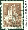 HUNGARY - CIRCA 1960: stamp printed by Hungary, shows Csesznek Castle, circa 1960 - stock photo
