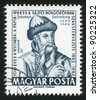 HUNGARY - CIRCA 1962: stamp printed by Hungary, shows Johann Gutenberg, circa 1962 - stock photo