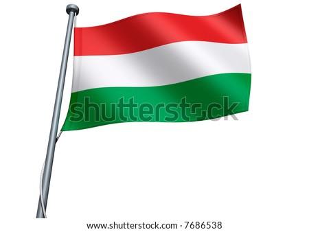 Hungary Flag - stock photo
