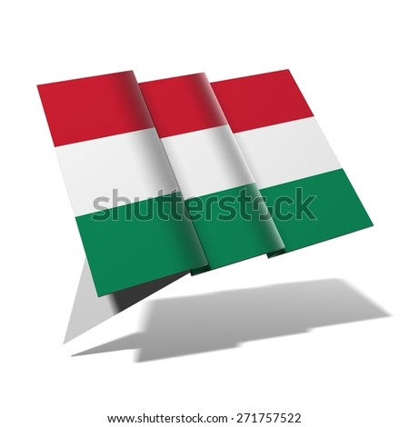 Hungary flag 3D banner - stock photo