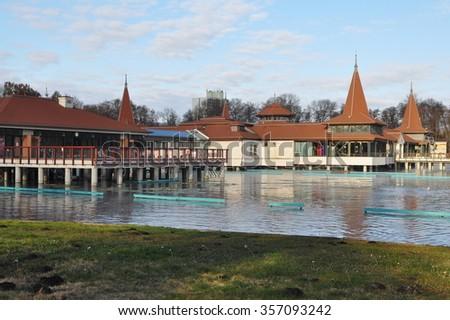 Hungary,Heviz lake - stock photo