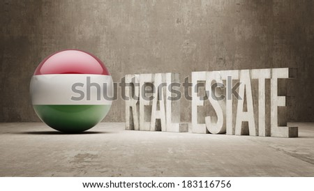 Hungary High Resolution Real Estate Concept - stock photo