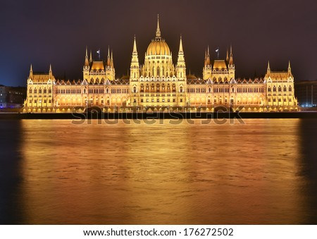 Hungary parliament building in Budapest