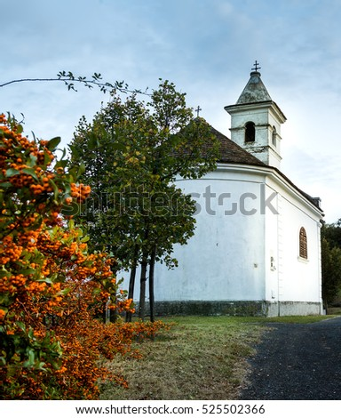 Hungary,Szigliget,little church on the mountain
