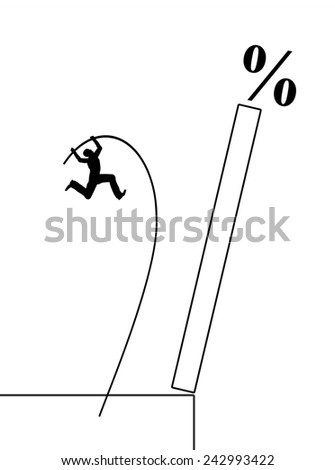 Hunt for High Yield Assets. Symbol for the greed for money and the danger of risky investments - stock photo