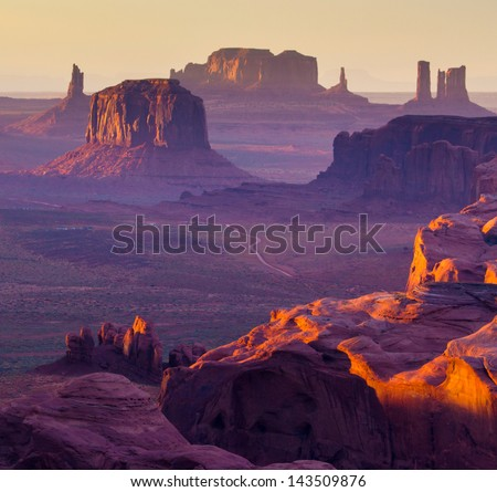 Hunt's Mesa, Monument Valley - American West - stock photo