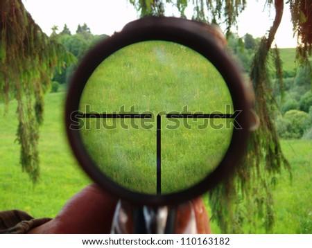 Hunter's scope - stock photo