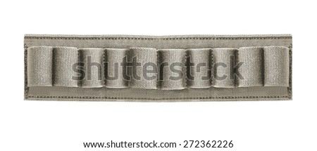 hunting belt with ammo - stock photo
