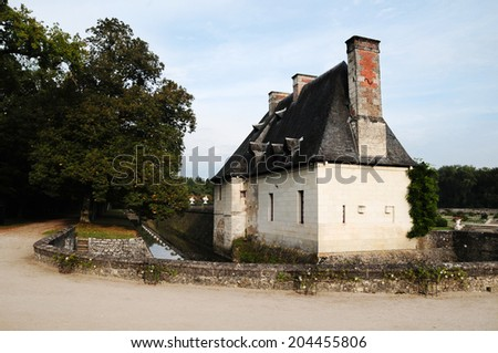 hunting Lodge in the castle of Chenonceau - stock photo