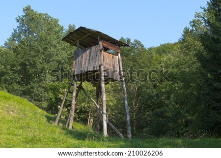 Hunting tower - stock photo