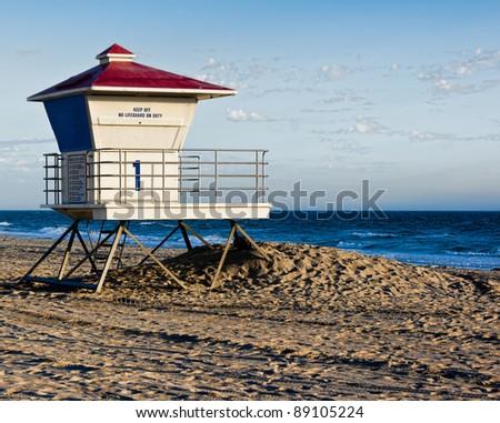 Huntington Beach Lifeguard Station - stock photo