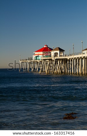 Huntington Beach Pier - stock photo