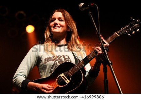 HUNTINGTON, NY-MAR 26: Megan McAllister of Fairground Saints performs onstage at the Paramount on March 26, 2016 in Huntington, New York. - stock photo