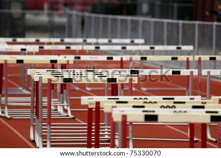 Hurdle Collection - stock photo