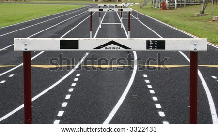 Hurdles Ahead - stock photo