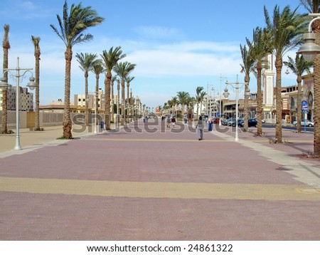 Hurghada, Egypt, street. To see similar images, please VISIT MY GALLERY. - stock photo