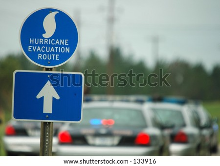 Hurricane Evacuation Route - stock photo