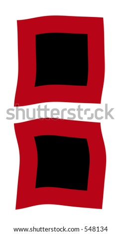 hurricane flags - stock photo