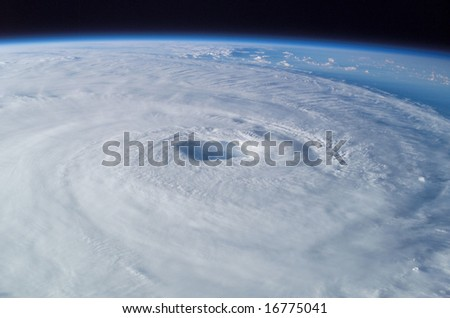 Hurricane from Space - stock photo
