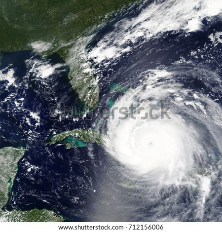 Hurricane Irma heading towards Bahamas and Miami, Florida - Elements of this image furnished by NASA