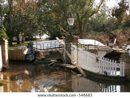 Hurricane Katrina 35 - stock photo