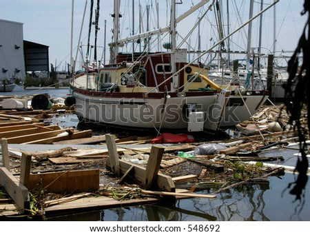 Hurricane Katrina 29 - stock photo