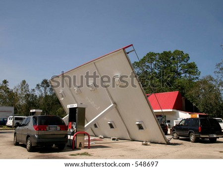 Hurricane Katrina 2 - stock photo