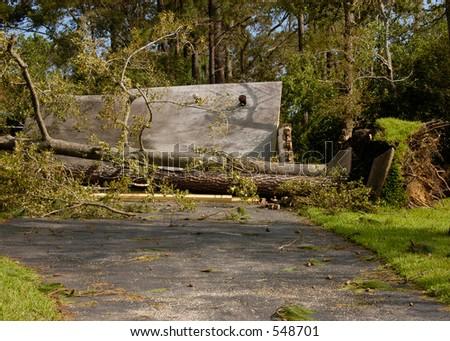 Hurricane Katrina 3 - stock photo